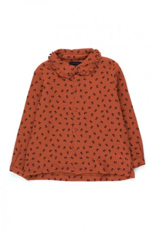 """tinycottons / """"TINY FLOWERS"""" SHIRT / sienna/navy / AW20-169"""