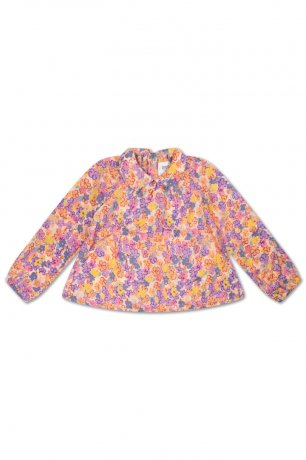 REPOSE AMS / ROUND COLLAR BLOUSE / SCRIBBLE FLOWER