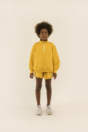 tinycottons / SS21-132 / SMALL FLOWERS SHORT / yellow/honey
