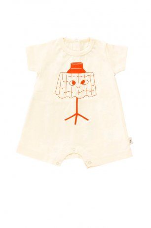 tinycottons [3rd] / SS21-034 / WISHING TABLE ONE-PIECE / light cream/red