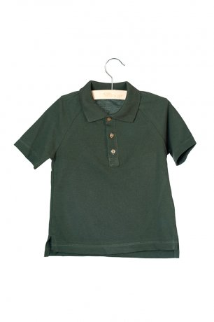 little HEDONIST / Max / Short Sleeve Polo / Pirate Black