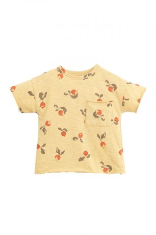PLAY UP / Printed Flame Jersey T-Shirt / STRAW / 3AI11057_E380Y