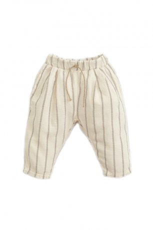 PLAY UP / Striped Woven Trousers / DANDELION / 1AI11603_P0058
