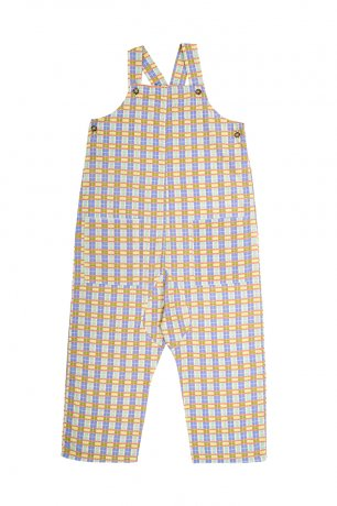 Omibia [2nd]/ ALAMO Dungarees (4y/6y) / Check - Rainbow / SS21W18-C