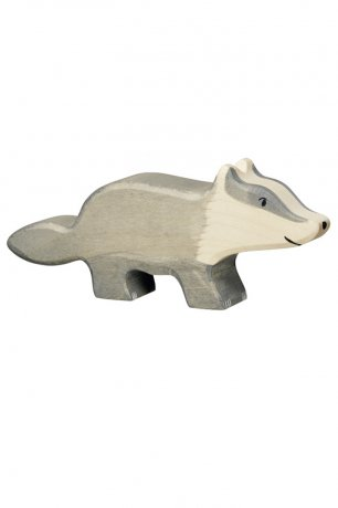 Wooden Toy / Wooden Animal Badger / 80539