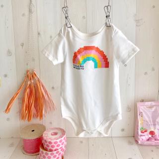 rainbow ロンパース