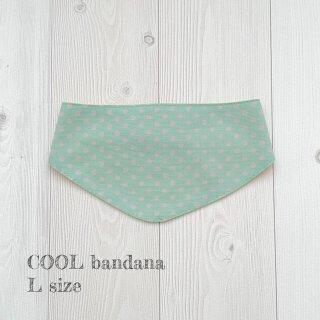 COOL bandana グリーンドットLサイズ
