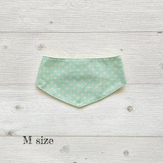 Cool bandanaグリーン水玉M