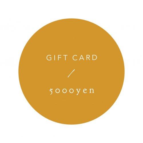 GIFT CARD 5000yen