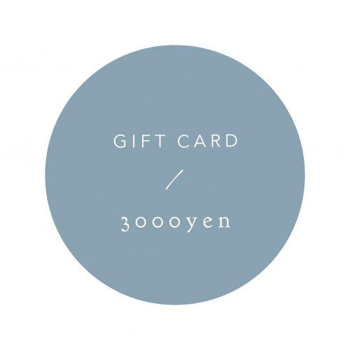 GIFT CARD 3000yen