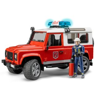 Land Rover Def.ワゴン消防カスタム(フィギュア付き)