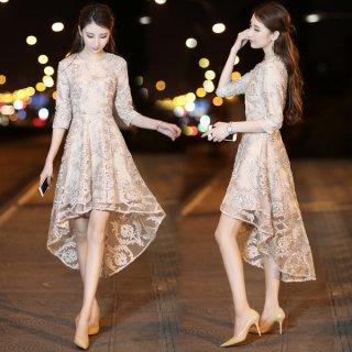 韓国ワンピース❤上品な装いでフィッシュテールがオシャレ♪ワンピース