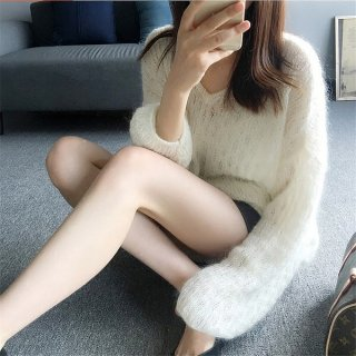 韓国ニットトップス❤ふんわり透け感あるのが女の子っぽい♪ニットトップス