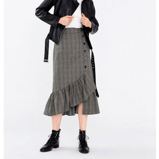 韓国スカートのフィッシュテールスカート