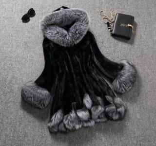 韓国ファーコート❤襟袖のファーがゴージャス♪Aラインコート