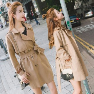 韓国トレンチコート❤ミニ丈だから色んな服に合わせやすい♪ショート丈コート