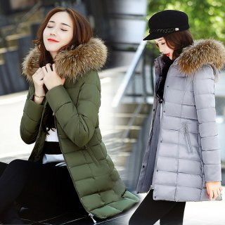韓国ダウンコート❤少し丈が短いからカジュアルに着られる♪Aラインコート