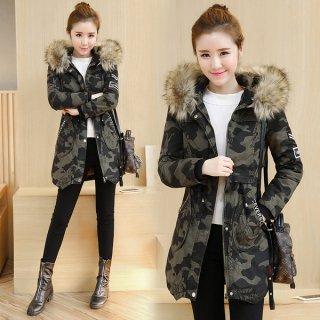 韓国ミリタリージャケット❤迷彩柄でも細身で女性がカジュアルに着られる♪ミリタリーコート
