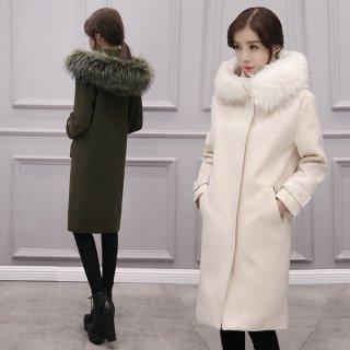 韓国ダッフルコート❤ボタンが隠れてるからカジュアル過ぎないデザイン♪ファーコート