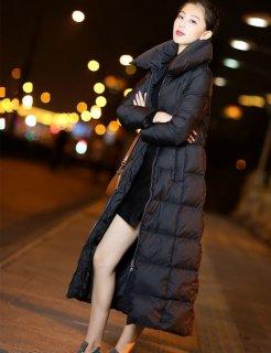 韓国ダウンコート❤カジュアル過ぎないAラインが綺麗♪ロングコート
