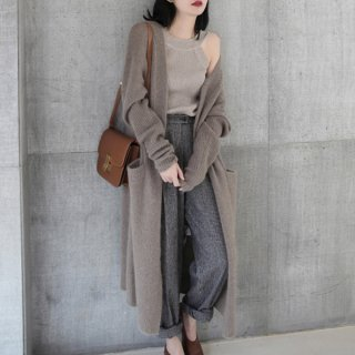 韓国カーディガン❤シンプルで冬の装いを邪魔しない♪ポッケが付いてるロングカーディガン