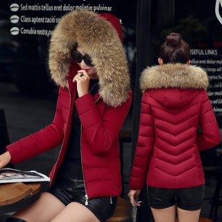 韓国コート❤ふわもこファーが首回りを暖めてくれる♪ショート丈ダウンコート