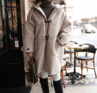 韓国コート❤カジュアルなデザインだけど大人な落ち着いたカラーだから着やすい♪ダッフルコート