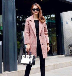 韓国コート❤もこもこしたボアがカチッとしたチェスターのかたちを柔らかい印象にしてくれる♪チェスターコート