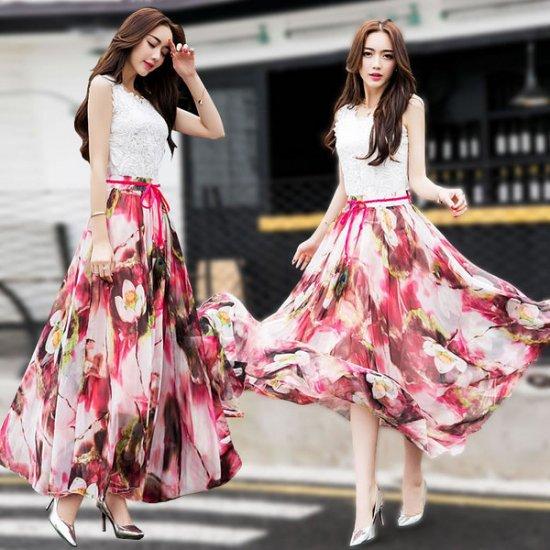 韓国スカートのハイウエストスカート