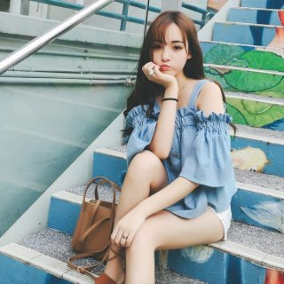 韓国トップス❤夏にたくさん着こなしたい♪オフショルダートップス