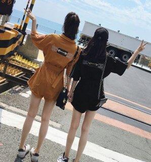韓国サロペット❤スポーティな韓国可愛いファッションで、この夏を楽しもう!