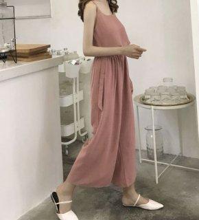 韓国オールインワン❤セットアップ トイレに行けるシンプル柄のオールインワン!