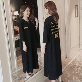 韓国ワンピース❤ダボダボブカブカ可愛いスポーティーなマタニティも!Tシャツワンピ