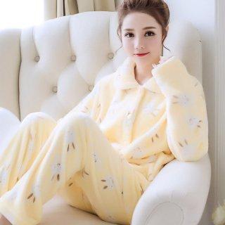 韓国ルールウェア❤パジャマ ウサギちゃんの長袖長ズボンのとっても可愛いすぎるモコモコパジャマ