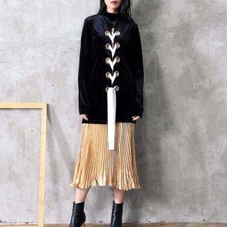 韓国ジャケット❤アウター モードで個性的好きな方に編み上げのジャケット