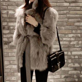 韓国ファーコート❤アウター 大人きれいに着こなせるあったかいファーコート