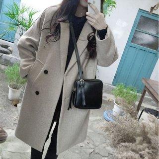 韓国チェスターコート❤アウター ダブルボタンのジャケット型で可愛いコート