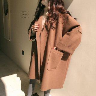アウター❤チェスターコート ダボッと韓国ファッションで可愛いコート