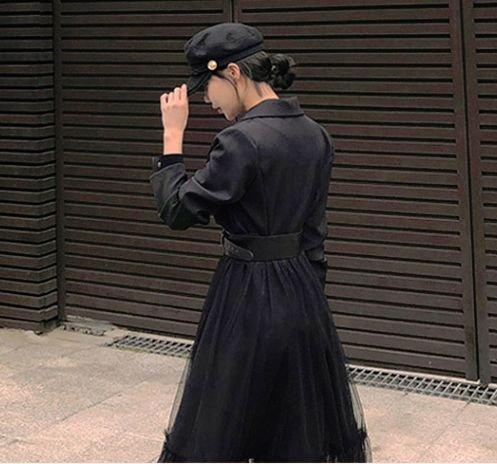 韓国ワンピースのロング丈・マキシ丈