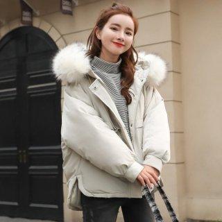韓国アウター❤ダウンジャケット ファーのフードがとっても可愛いキュンとくるダウンジャケット