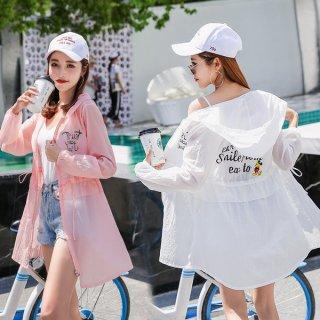 韓国トップス❤パーカー 日よけに最適ちょっと長めの韓国オルチャンパーカー