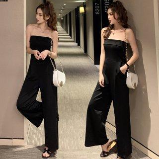 韓国オールインワン❤大人女子のモードなブラックオールインワン