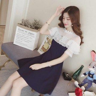 韓国ワンピース❤とってもお嬢様のフリルフェミニンガーリーなミニワンピ