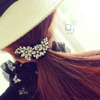 韓国ヘアドレスピン❤レトロフラワーフラッシュジュエリー 花柄とっても可愛いヘアアクセサリ