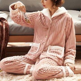 韓国ルームウェア❤モコモコ感が可愛い秋冬おススメガーリールームウェア
