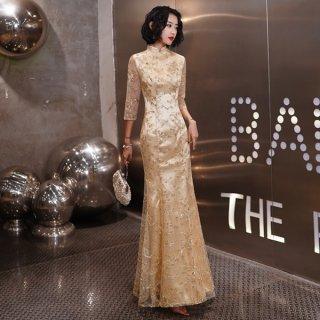 韓国ワンピース❤韓国パーティードレス さりげない刺繍が魅力的な可愛いワンピース 962850