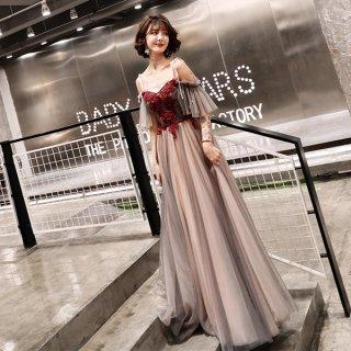 韓国ワンピース❤韓国パーティードレス ふんわりチュールが可愛いオフショルワンピース 962871