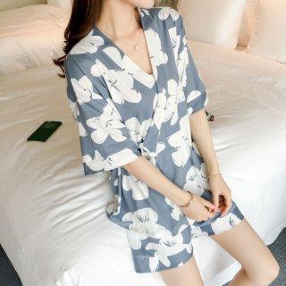 韓国ルームウェア❤甚平のようなデザインがおしゃれな可愛いルームウェアセット 962986