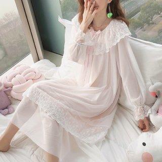 韓国ルームウェア❤お姫様のような可愛さのレースルームウェアワンピース 962987