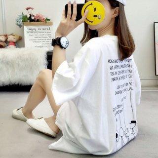 韓国Tシャツ❤トップス 背中がほんのり可愛いオルチャントップス 962319